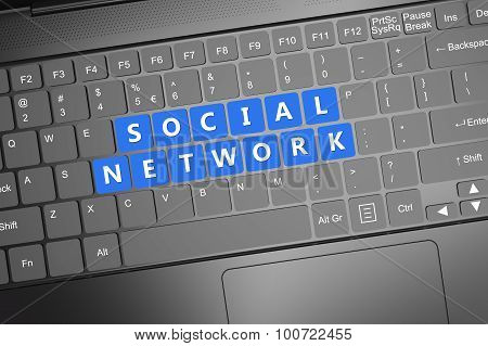 Keyboard With Social Network Text
