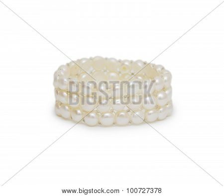 Beads From Pearls, On A White Background