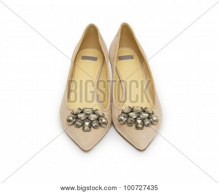 Woman Shoes Isolated On The White Background