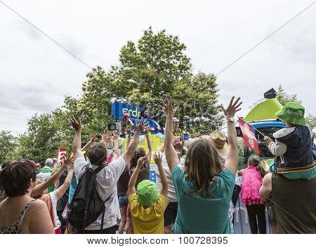 Crowd During The Publicity Caravan - Tour De France 2015
