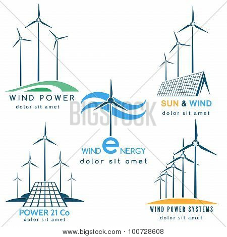 Wind And Sun Power Making Logo