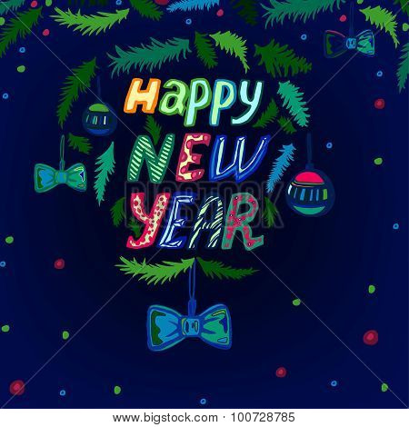New Year lettering background