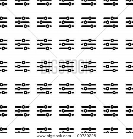 Music Equalizer Seamless Pattern. Vector
