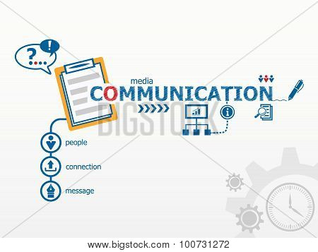 Communication Concept And Notebook.
