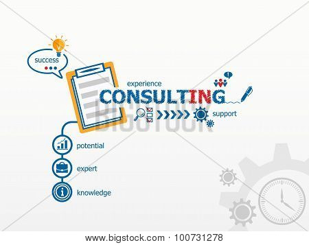 Consulting Concept And Notebook.
