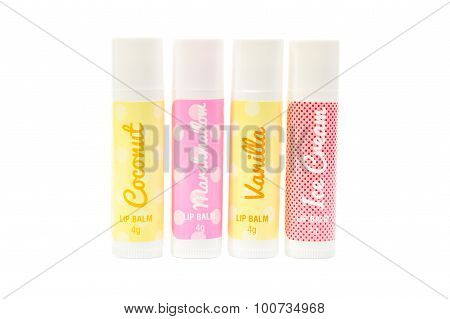 Four Flavoured Lip Balms.