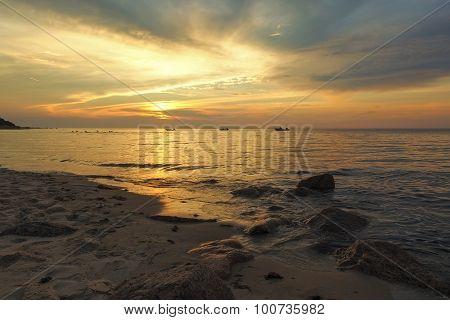 Sunset At Breakwater Beach