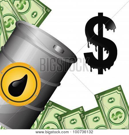 Petroleum and oil prices design.