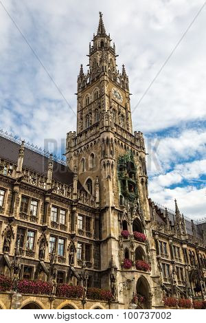 Marienplatz Town Hall In Munich