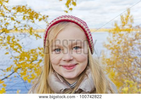Cute Girl In Red Hat
