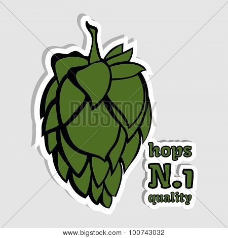 Hops Number 1 Quality Illustration