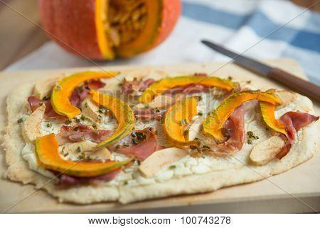 Freshly baked Healthy Pumpkin Tarte