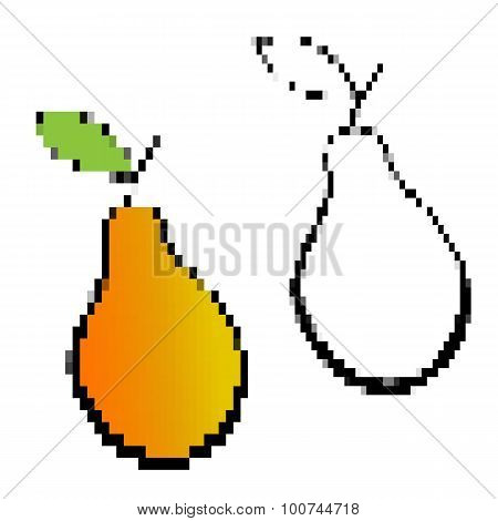 Pixelated Yellow Pears.