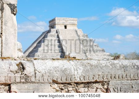 Kukulkan Pyramid from the Great Ball Court at Chichen Itza