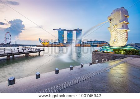 Singapore Cityscapes In The Morning.