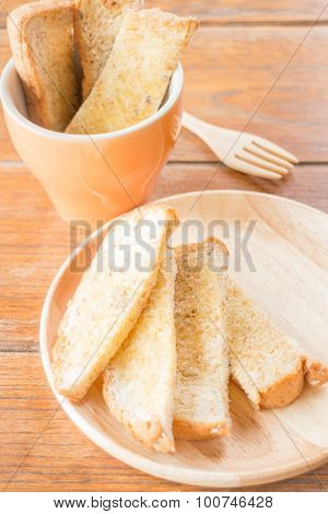 Tasty Toasted Multi Grain Bread With Butter