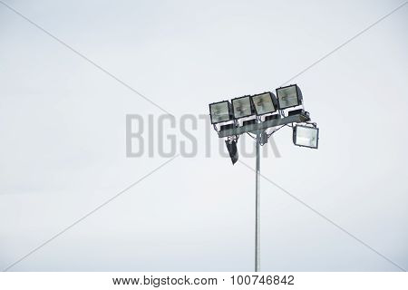 Field Lamp With Isolated Sky Background