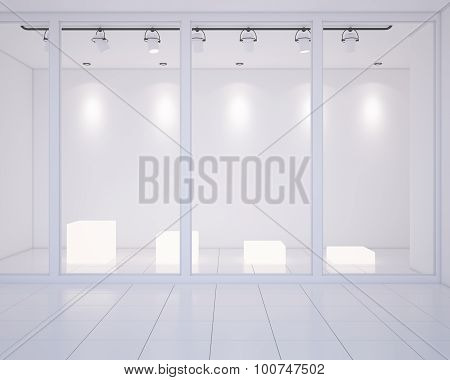 Empty shop-window