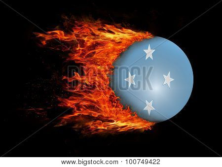 Flag With A Trail Of Fire - Micronesia