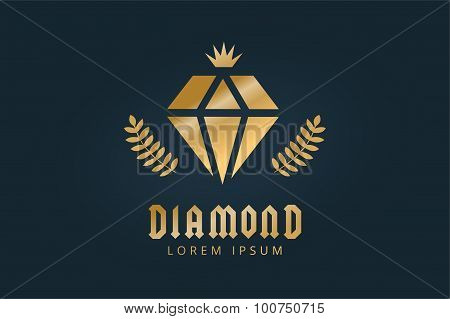 Vintage old diamond logo icon template