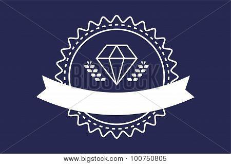 Vintage old diamond logo icon template