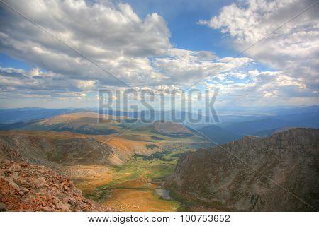 Scenic vista at summit of Mt. Evans