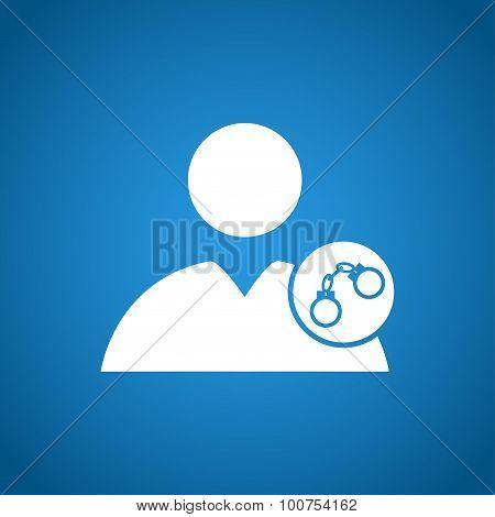 User Icon, Handcuffs Icon