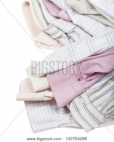 Shirts Cuffs And Collars Close Up Isolated