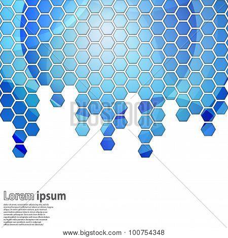 Bright Blue Hexagon Geometrical