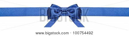 Blue Ribbon And Symmetric Bow With Horizontal Ends