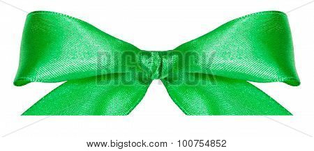 Green Silk Bow Knot Isolated On White