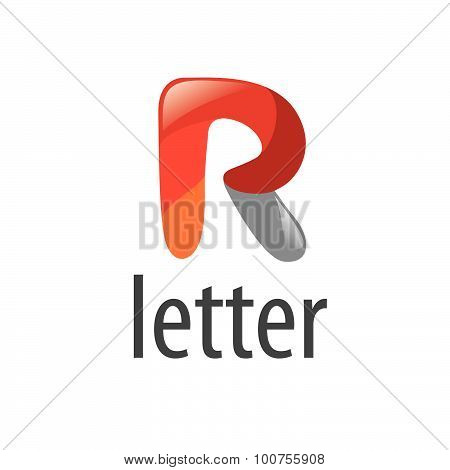 Abstract Vector Logo Cartoon Letter R