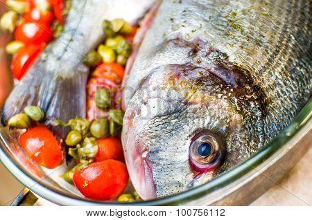 Cook Fish Closeup