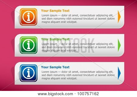 Information Sign And Design Template Vector.