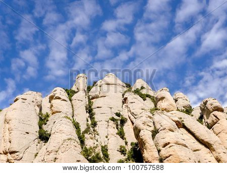 Montserrat  rocks
