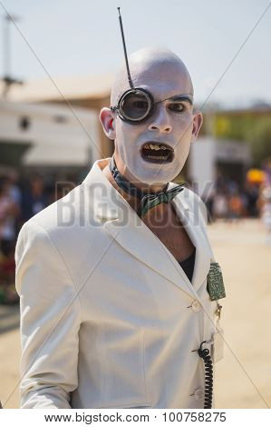 Freakish Character Outside Germany Pavilion At Expo 2015 In Milan, Italy