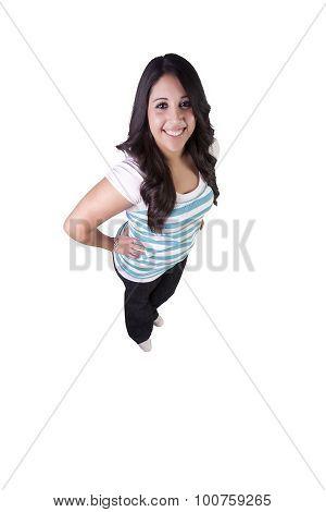 Beautiful Hispanic Girl Standing Up
