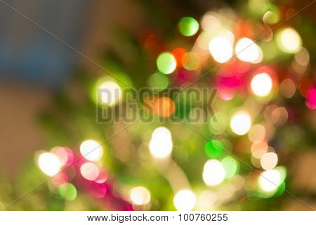 Abstract Light Celebration Background With Defocused Lights