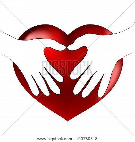 Hands Heart Hug