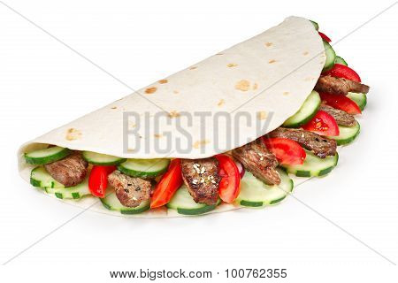 Beef Shawarma Isolated