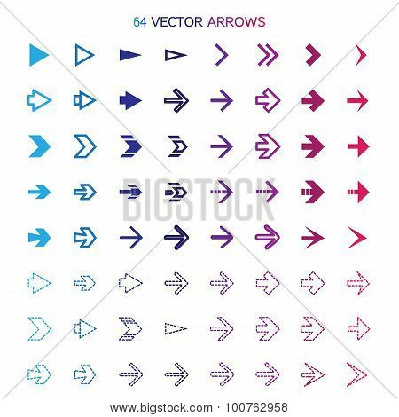 Isolated Arrows Set, Undo And Previous Buttons