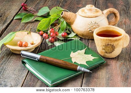 Morning Tea, Diary, A Sprig Of Chinese Apples