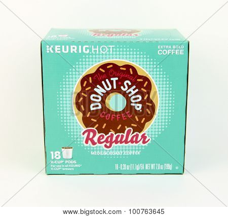Box Of Keurig Donut Shop Coffee
