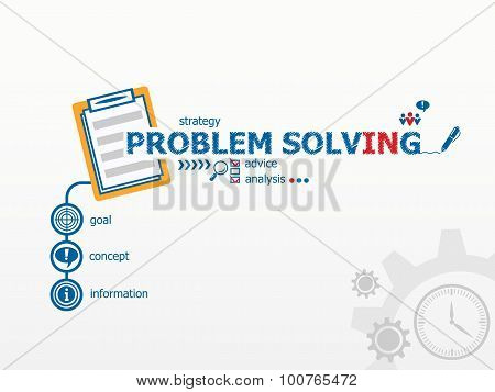 Problem-solving Concept And Notebook For Efficiency, Creativity, Intelligence