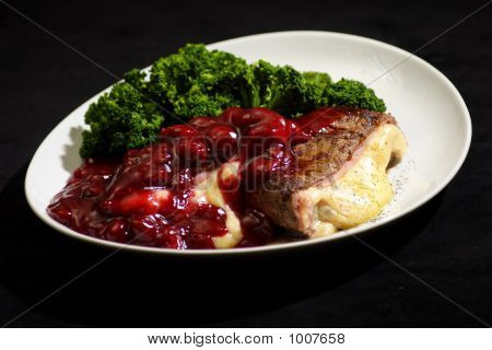 Cherry Steek And Broccoli