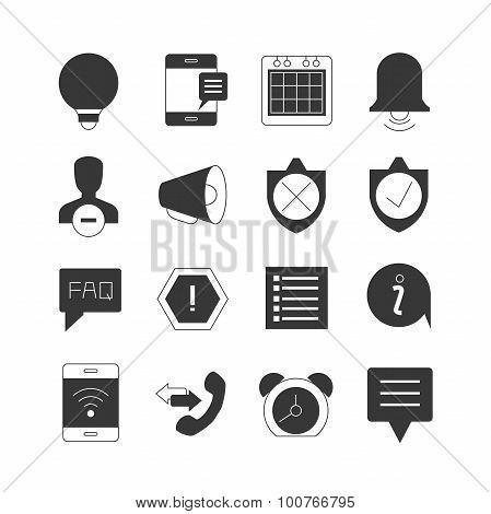 web alert icons