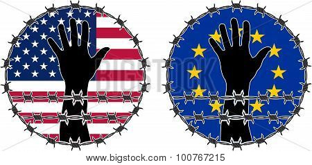 Violation Of Human Rights In Usa And EU