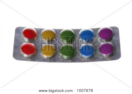 Package Of Color Pills