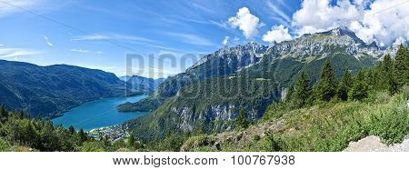 Landscape Of The Molveno Lake, Trentino - Italy