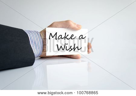 Make A Wish Text Concept